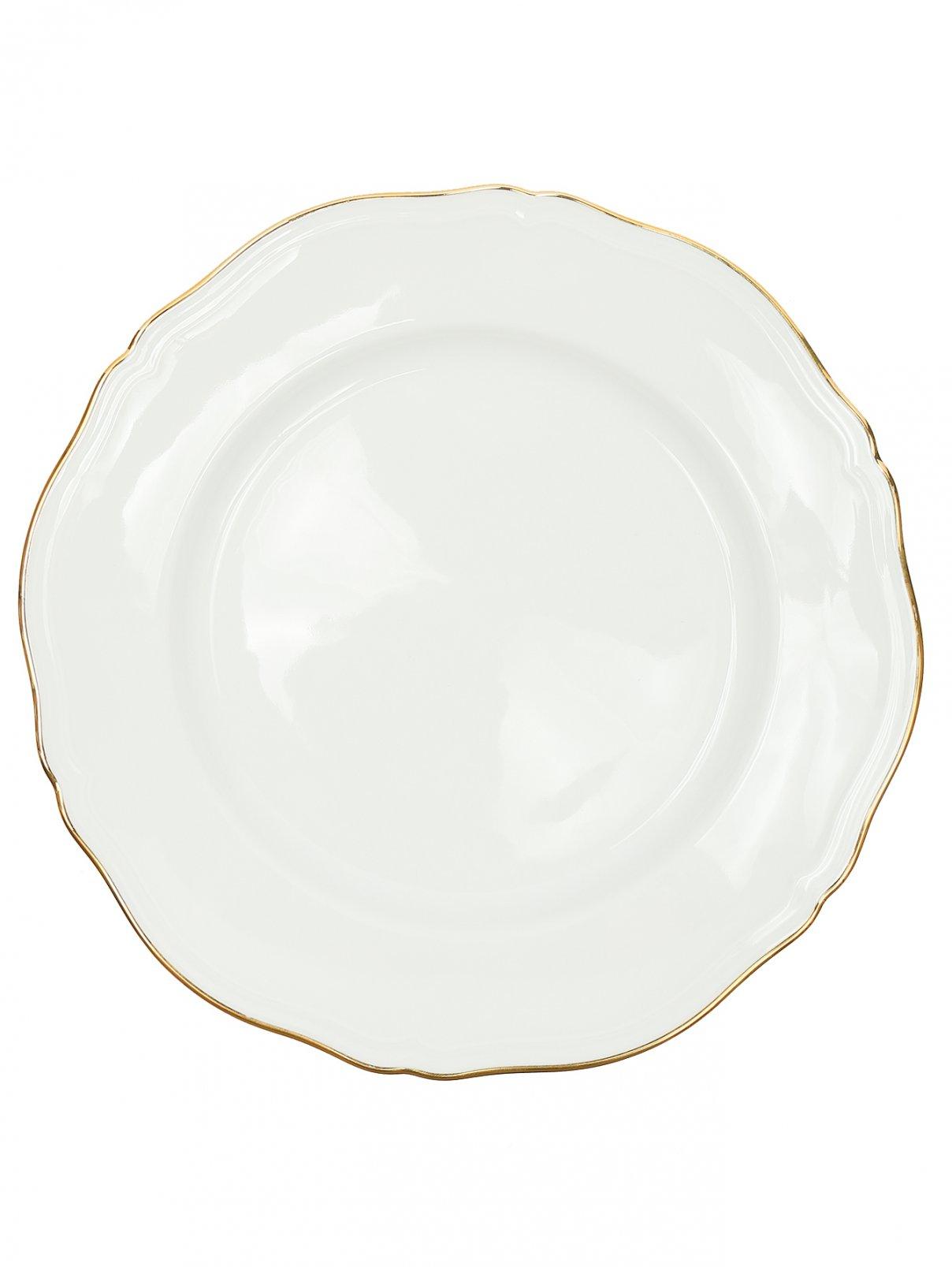 Тарелка обеденная с золотой окантовкой Richard Ginori 1735  –  Общий вид