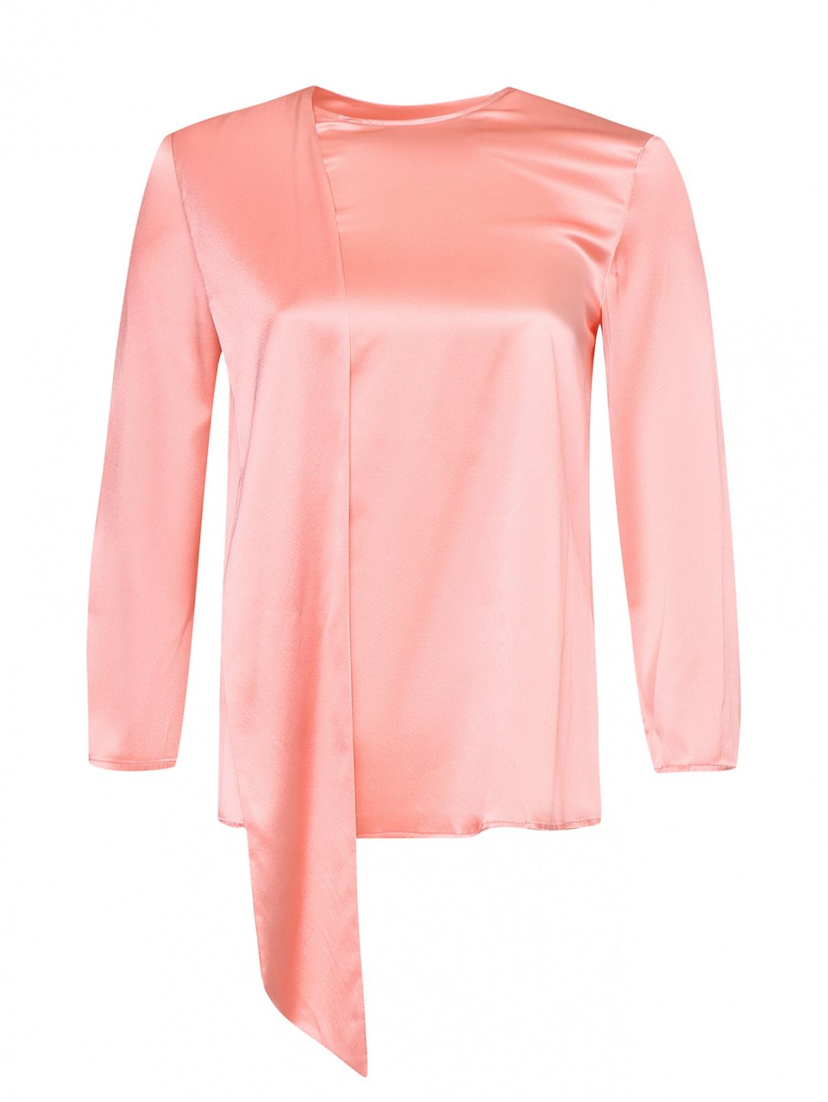 Блуза из шелкового атласа с бантом Max&Co  –  Общий вид