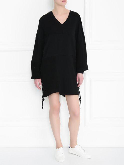 Платье из хлопка свободного кроя - Общий вид