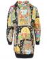 Платье из хлопка с узором и капюшоном Moschino  –  Общий вид