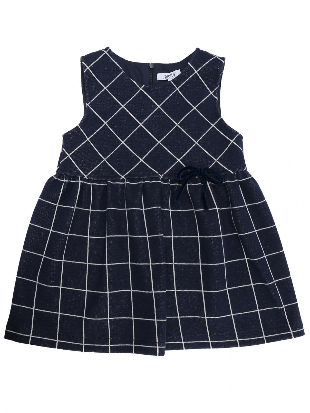 Платье трикотажное в клетку Aletta  –  Общий вид