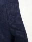 Платье из хлопка с короткими рукавами и контрастной встакой Vilshenko Moscow  –  Деталь1