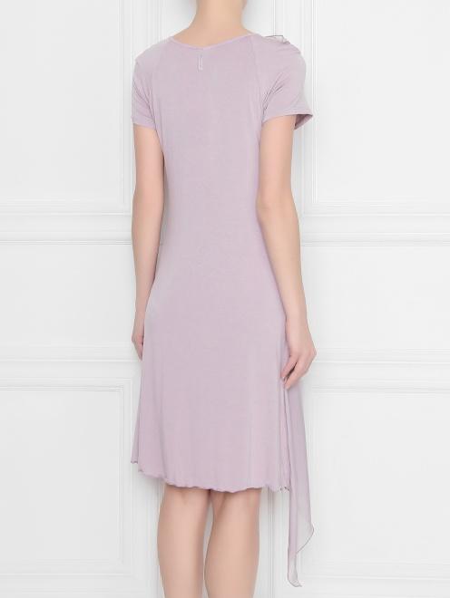 Платье из вискозы асимметричное DEHA - МодельВерхНиз1
