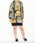 Платье из хлопка с узором и капюшоном Moschino  –  МодельОбщийВид