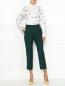 Укороченные брюки из шерсти Paul Smith  –  МодельОбщийВид