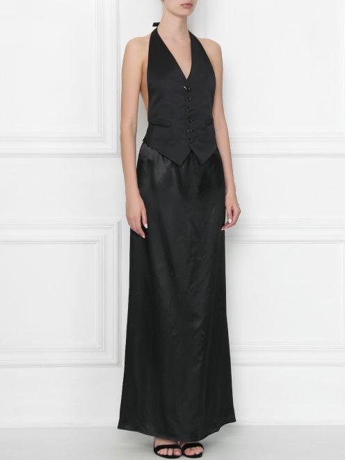 Платье-макси из вискозы MM6 - МодельВерхНиз