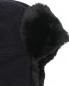 Шапка - ушанка из шерсти и кашемира Stetson  –  Деталь