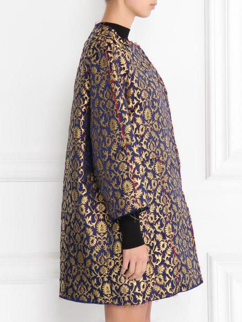 Легкое пальто с узором свободного кроя - Модель Верх-Низ2