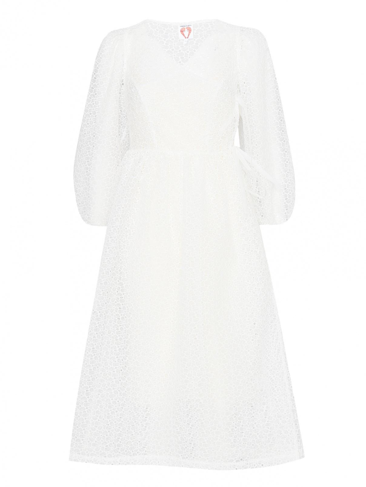 Платье-миди из органзы с вышивкой Shrimps  –  Общий вид