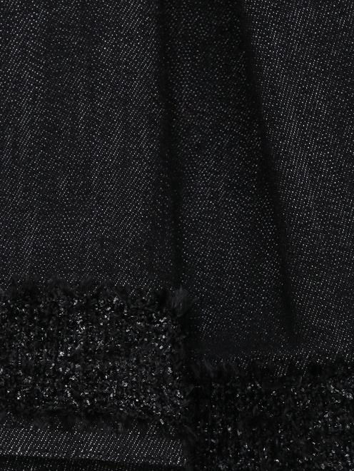 Платье из денима с бахромой - Деталь1