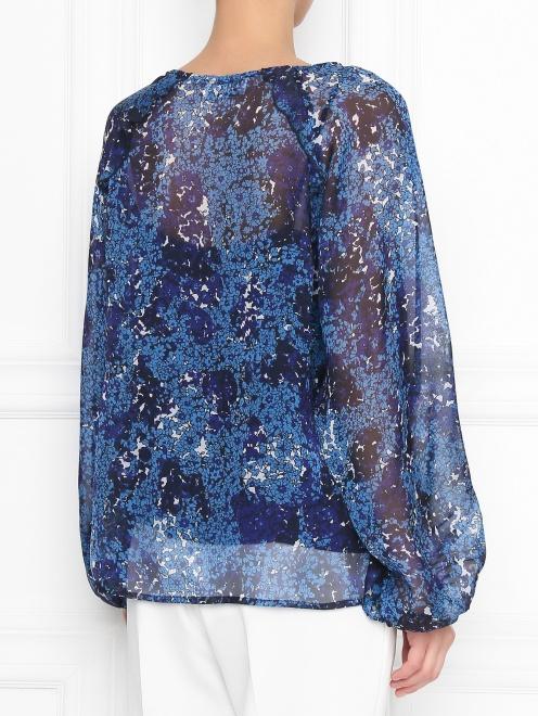 Блуза из шелка с цветочным узором Essentiel Antwerp - МодельВерхНиз1