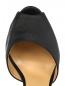 Мули из шелка на высоком каблуке La Perla  –  Обтравка3
