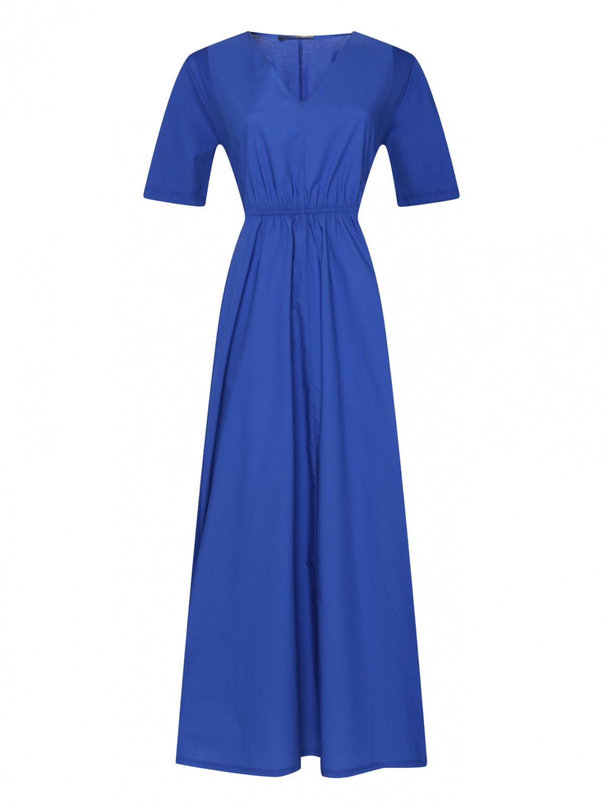 Трикотажное платье из хлопка с поясом Weekend Max Mara  –  Общий вид