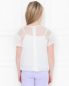 Блуза шелковая с брошью-цветком Mi Mi Sol  –  МодельВерхНиз1