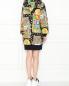 Платье из хлопка с узором и капюшоном Moschino  –  МодельВерхНиз1