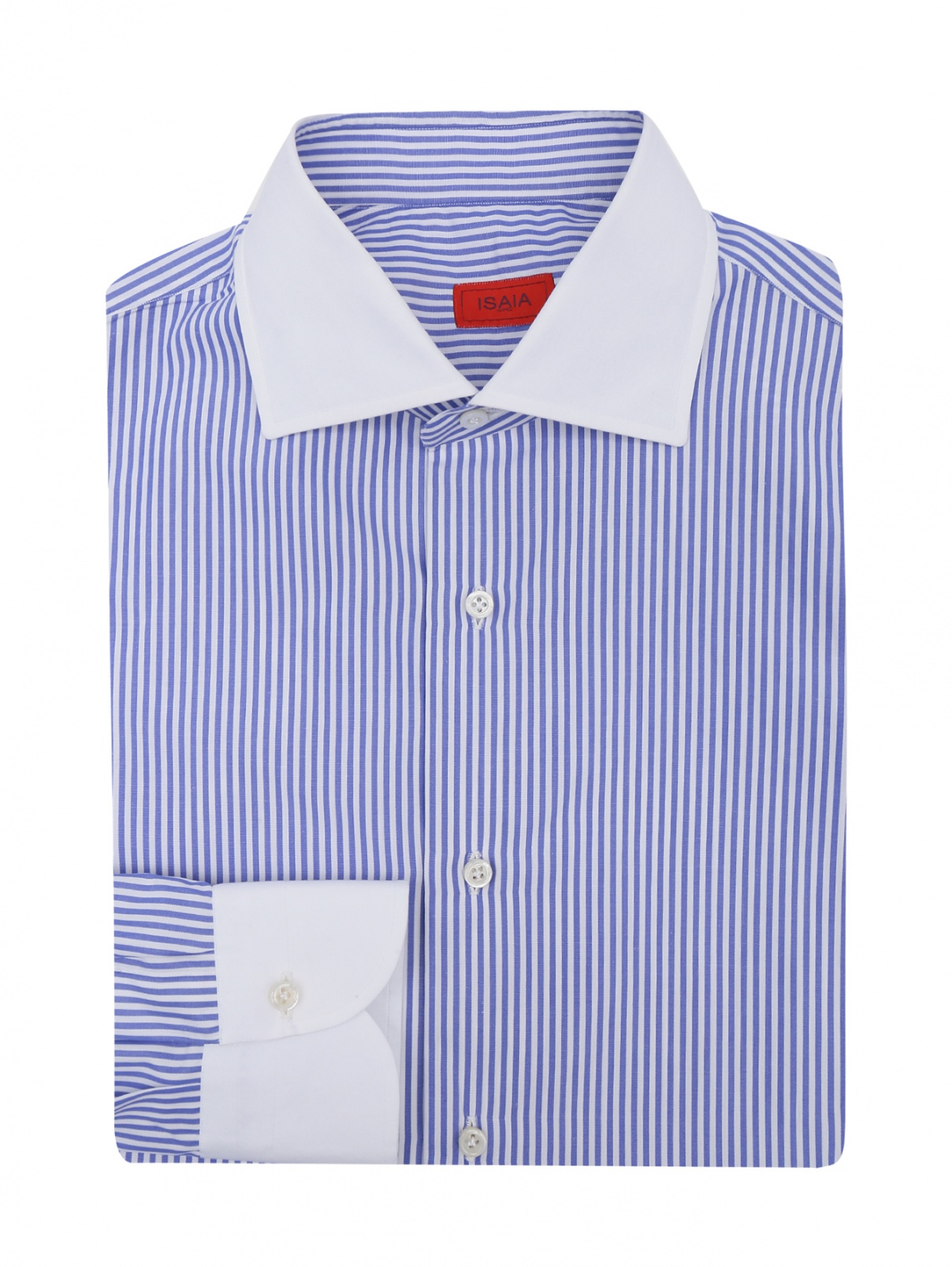 Рубашка из хлопка в полоску Isaia  –  Общий вид