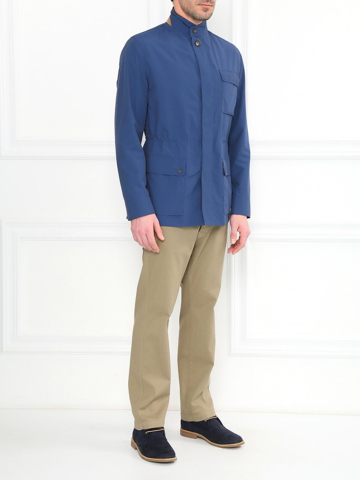Куртка из смешанной шерсти с боковыми карманами Luciano Barbera  –  Модель Общий вид