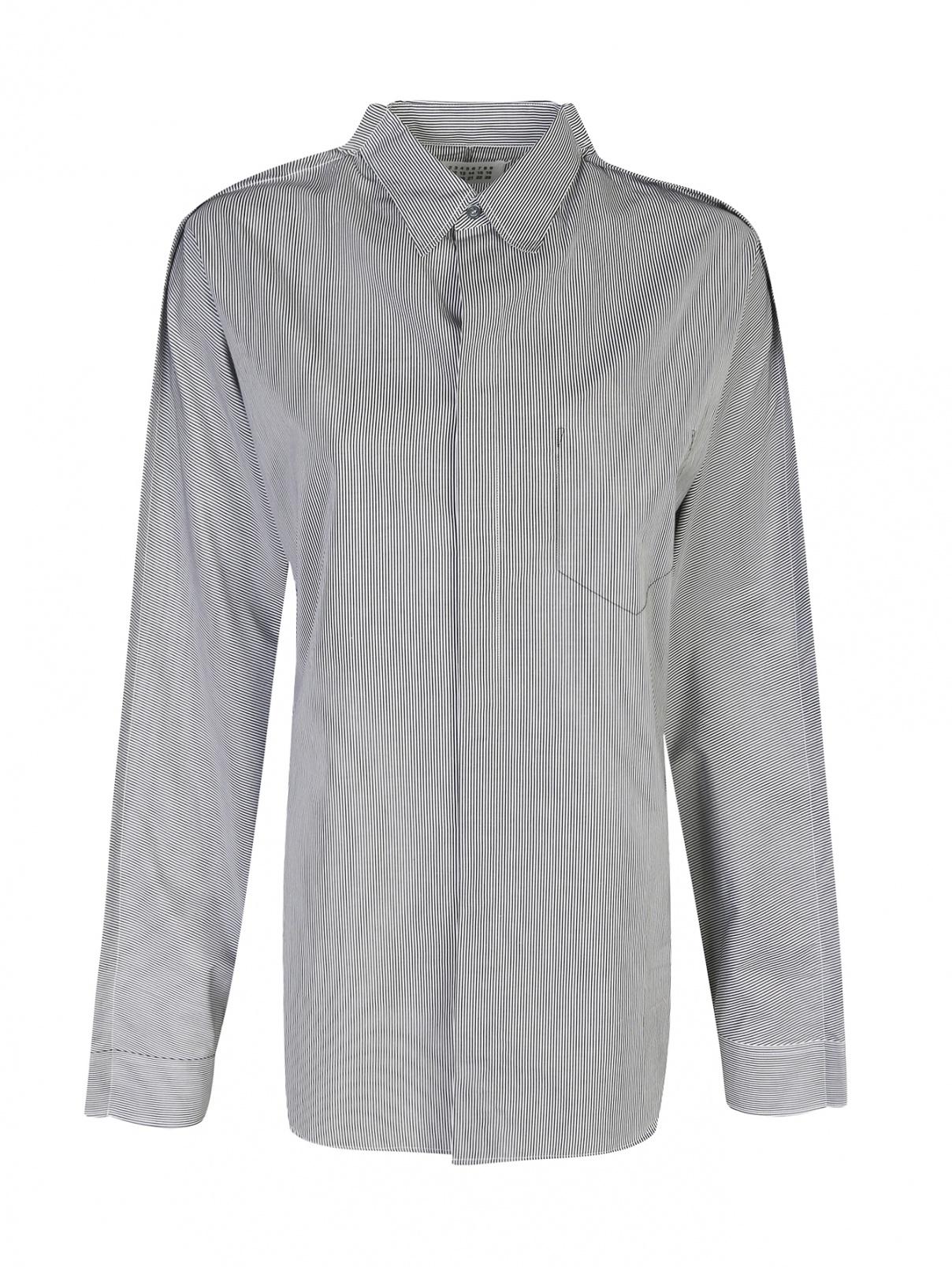 Блуза из хлопка в полоску Maison Martin Margiela  –  Общий вид