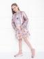 Платье трикотажное с хлопковой юбкой Simonetta  –  МодельОбщийВид