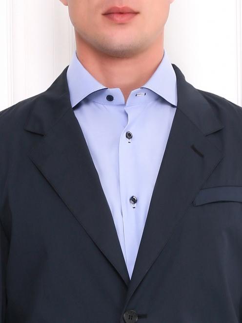 Легкий однобортный пиджак из хлопка  - Модель Общий вид1