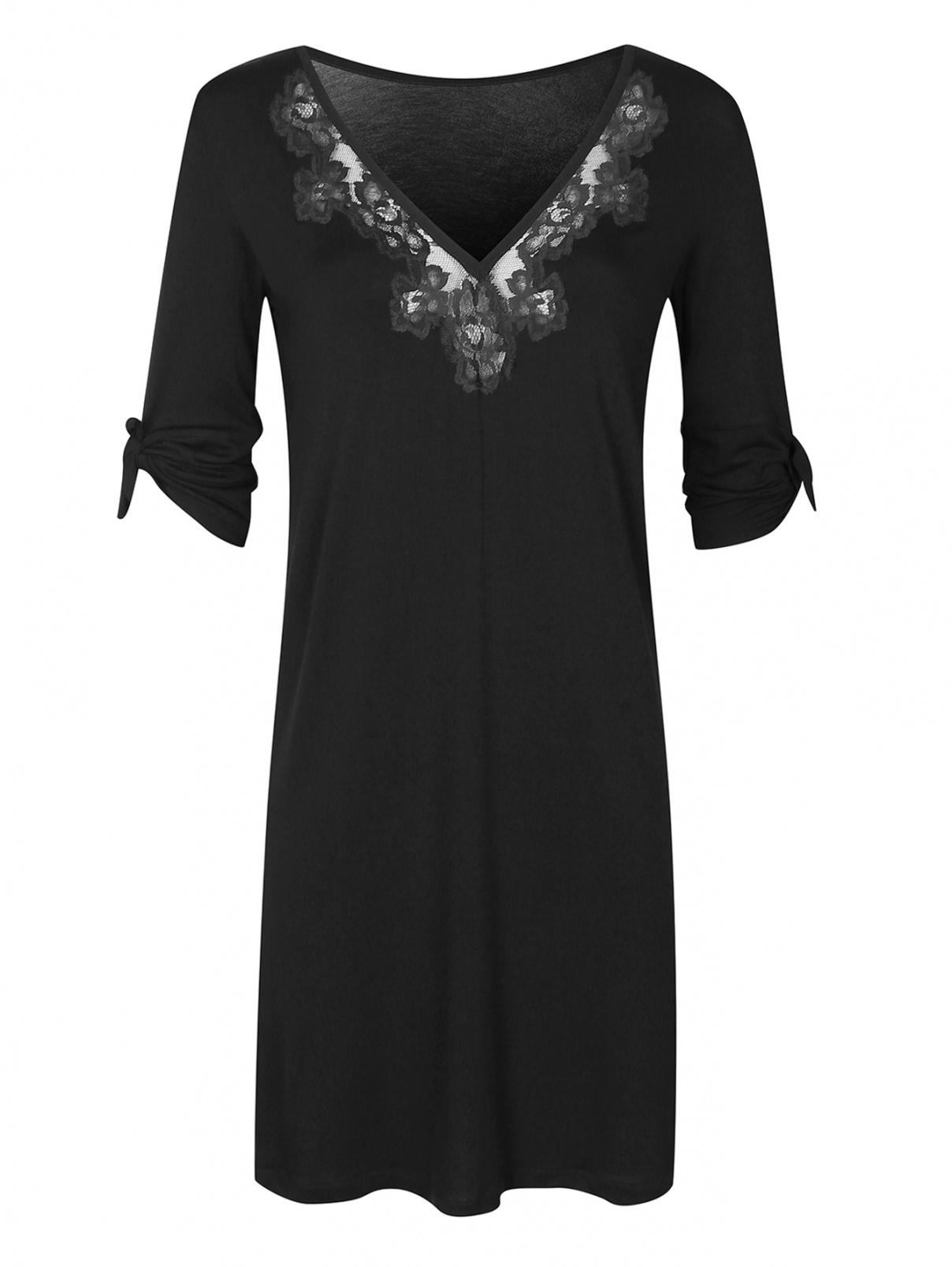 Сорочка ночная с кружевной отделкой La Perla  –  Общий вид