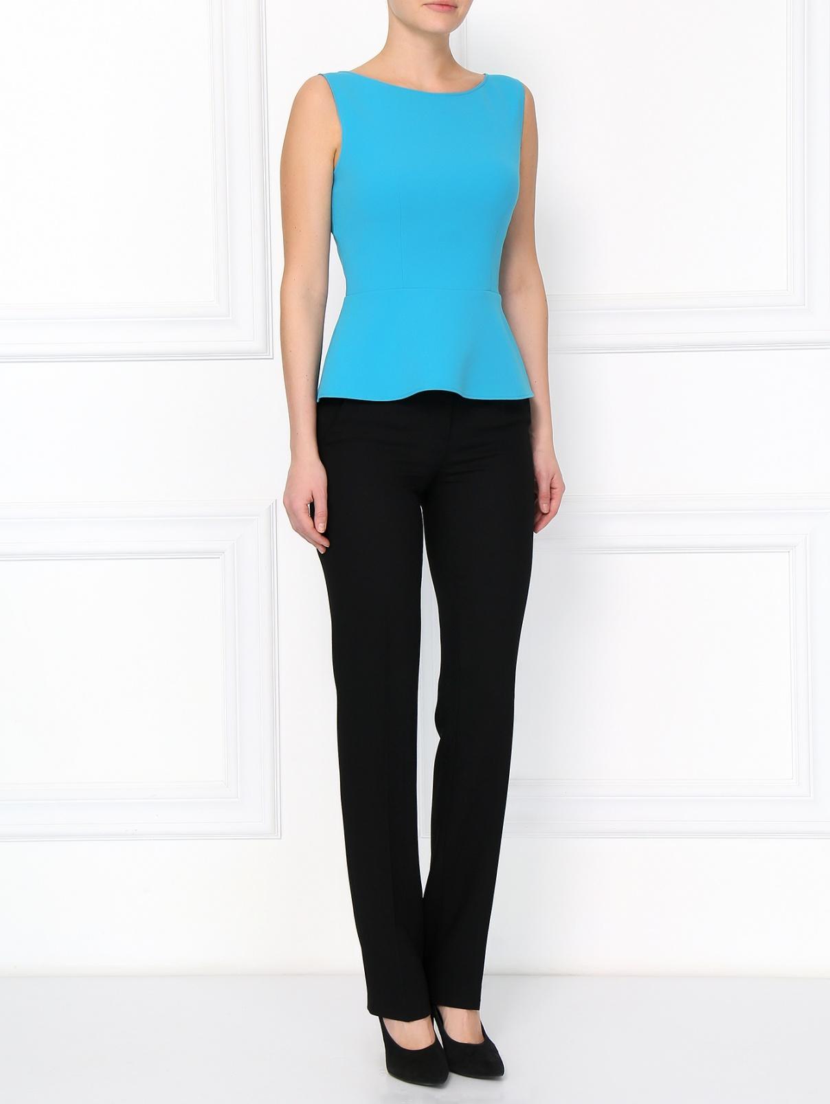 Прямые брюки из шерсти Moschino Boutique  –  Модель Общий вид