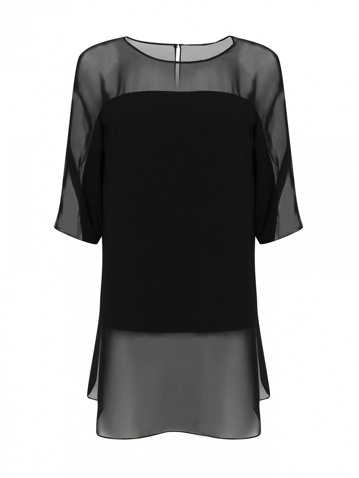 Блуза из полупрозрачной ткани Marina Rinaldi  –  Общий вид