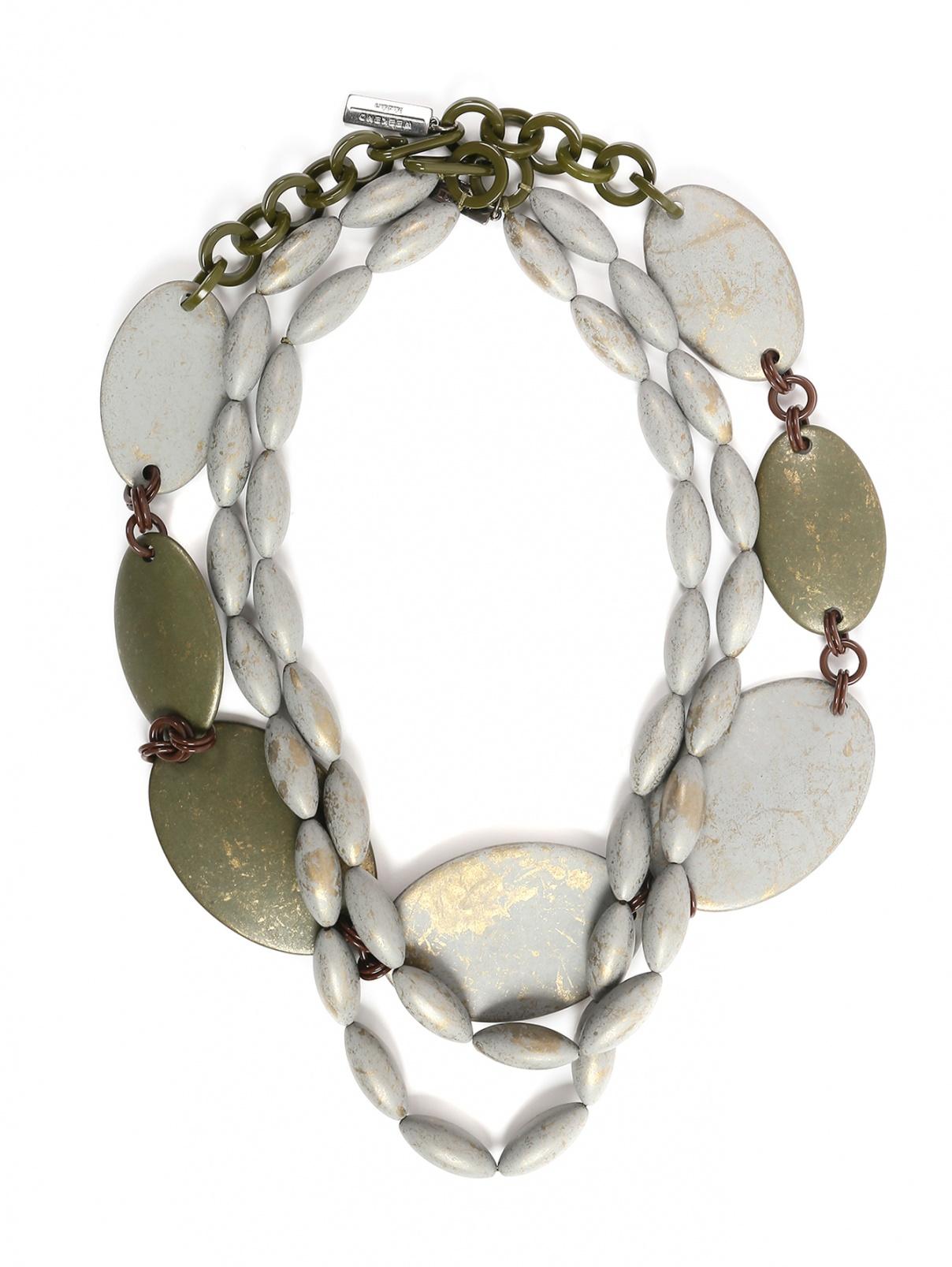 Ожерелье из пластиковых бусин в три яруса Weekend Max Mara  –  Общий вид
