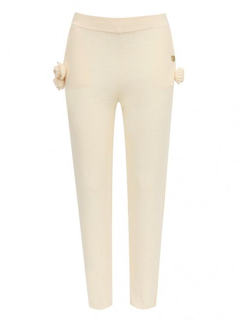 Трикотажные брюки из шерсти с карманами - Общий вид
