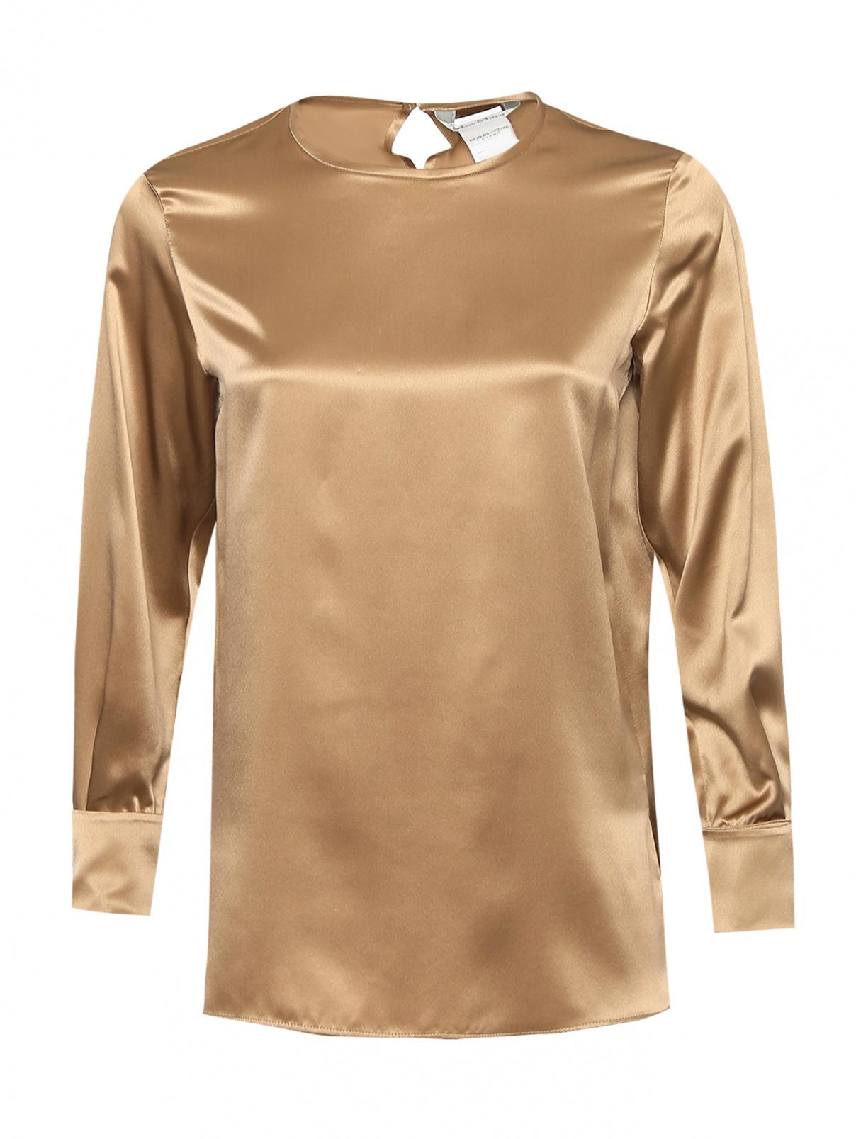 Блуза из шелка с круглым вырезом Max Mara  –  Общий вид