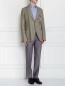 Пиджак однобортный из льна и хлопка с аппликацией Ermanno Scervino  –  Модель Общий вид