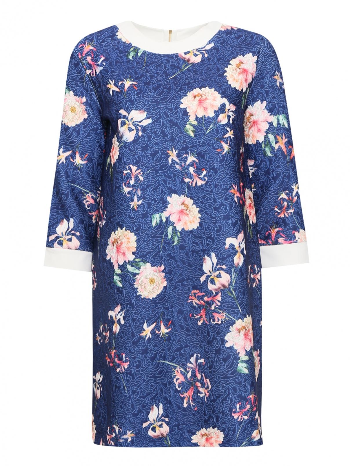 Платье из ткани с цветочным узором Pietro Brunelli  –  Общий вид
