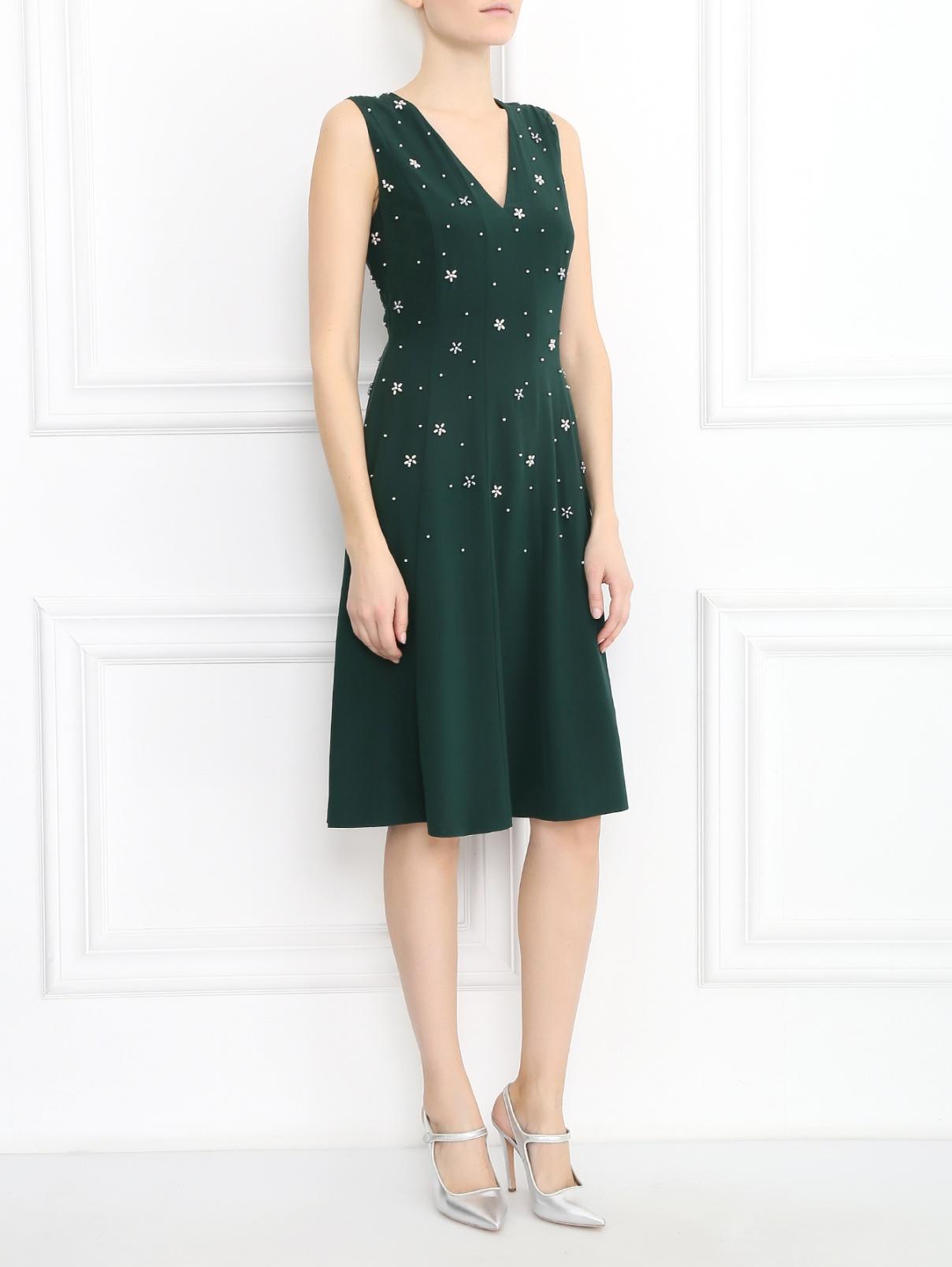 Платье из шелка с вышивкой из перламутровых бусин Paul Smith  –  Модель Общий вид