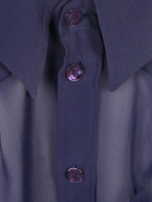 Топ из шелка с накладным карманом - Деталь