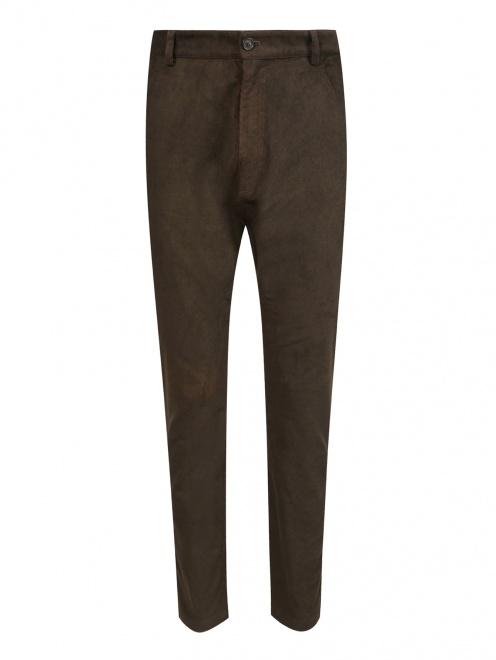 Вельветовые брюки прямого кроя - Общий вид