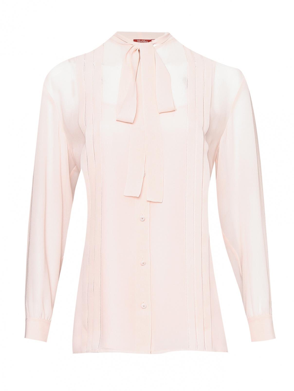 Блуза из шелка на пуговицах Max Mara  –  Общий вид