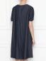 Платье из денима с декором из бисера Max Mara  –  МодельВерхНиз1