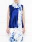 Широкий шарф с цветочным узором Marina Rinaldi  –  МодельВерхНиз