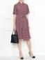 Платье из шелка свободного кроя с узором Weekend Max Mara  –  МодельОбщийВид