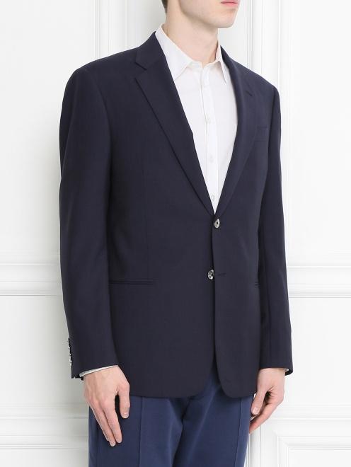 Пиджак из шерсти - Модель Верх-Низ