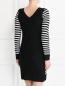 Платье  из шерсти мелкой вязки декорированное стразами Sonia By Sonia Rykiel  –  Модель Верх-Низ1