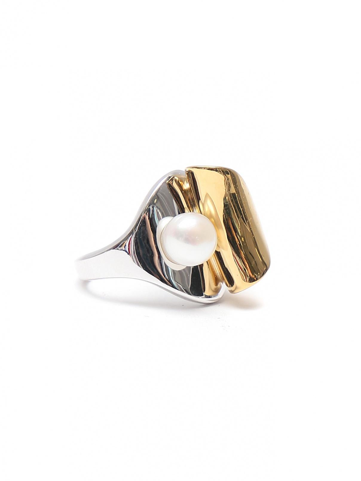 Кольцо из серебра с жемчугом MI MANERA  –  Общий вид