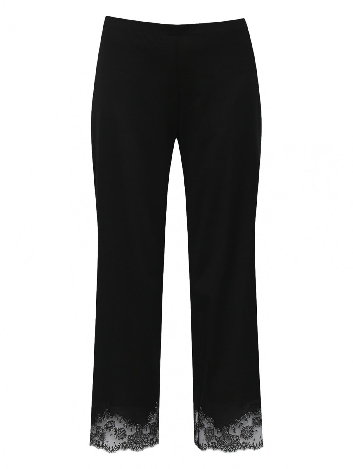 Трикотажные брюки с кружевной отделкой La Perla  –  Общий вид