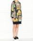 Платье из хлопка с узором и капюшоном Moschino  –  МодельВерхНиз
