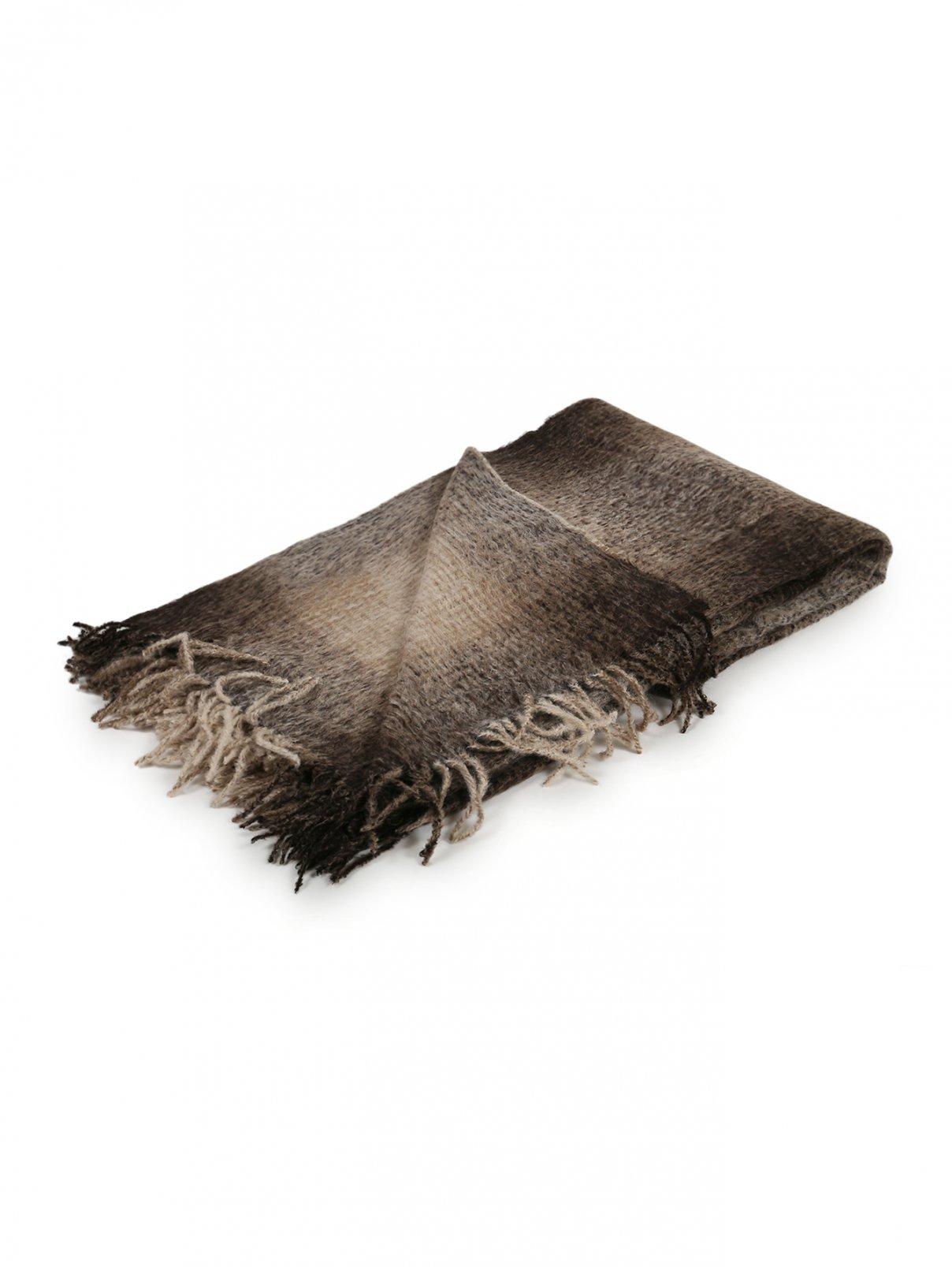 Плед из шерсти с узором и бахромой 200 x 150 Agnona  –  Общий вид
