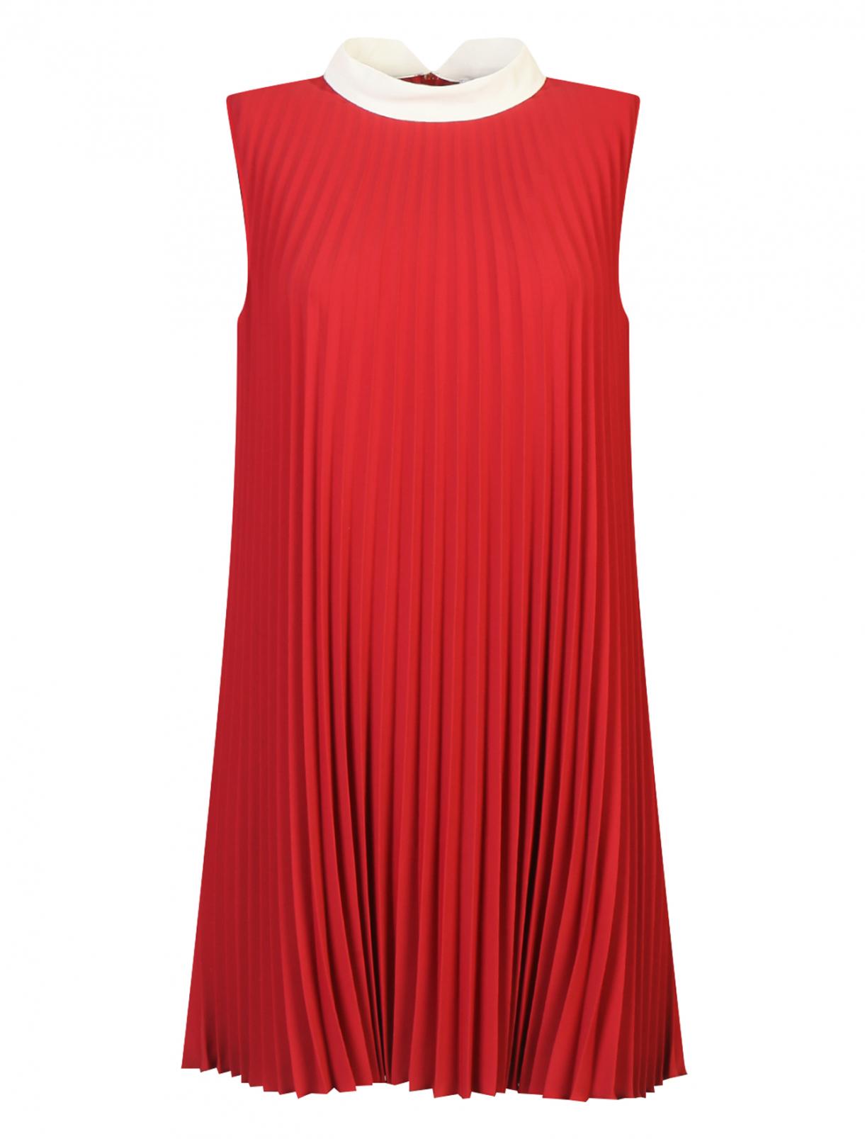 Плиссированное платье-мини Red Valentino  –  Общий вид