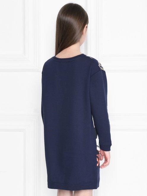 Платье из хлопка с принтом - МодельВерхНиз1