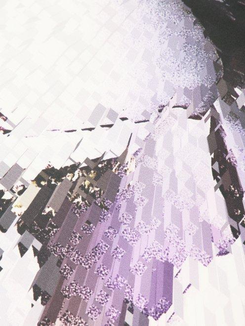Платок из шелка с узором и контрастной отделкой Innangelo  - Деталь1