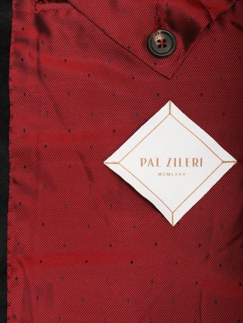 Однобортный пиджак из кашемира - Деталь2