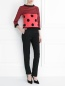 Джемпер из шерсти с узором Moschino Boutique  –  Модель Общий вид